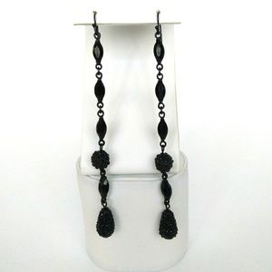Black Pavé Earrings